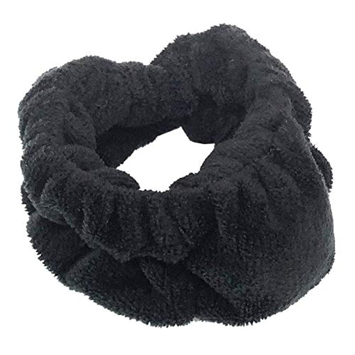 安全でない朝の体操をするマッサージOHEYA(オヘヤ) 『モコモコツボバンド』 (BLACK/ブラック) ふわふわ もこもこ マッサージ