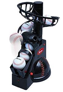 [商品詳細]野球の練習方法はより実戦に近い練習の方がレベルがあがります。その為ティーバッティングも正面から来るボールを打った方がより効果的にバッティングをすることができます。今までのティーバッティング練習では斜めから来るボールをネットに向って打つのが一般的でしたが、それではひっぱる練習をしていることになります。そこでこのマシーンを使うことにより正面からくるボールをセンター方向や様々な方向に打つことにより効果的な練習ができます。トスは6秒間隔で自動トスされ、ボール発射角度は3段階に調節できる優れも...