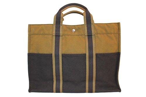 10万 正規品新品 エルメス フールトゥMM/ハンドバッグ トートバッグ ブラックxカーキ  No.17072050
