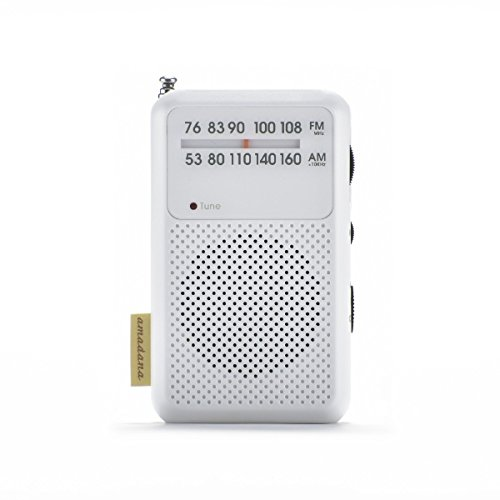 アマダナタグレーベル【ワイドFM対応】FM/AM amadana TAG Label モバイルラジオ(ホワイト)AT-OMR0011-WH【ビックカメラグループオリジナル】