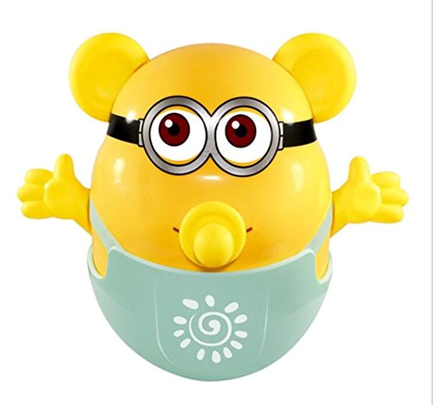 KEANER 新生児 乳児 ロールポリ おもちゃ 安全 歯固め ベビーシャワー ラトル タンブラー 知育玩具 (イエロー)
