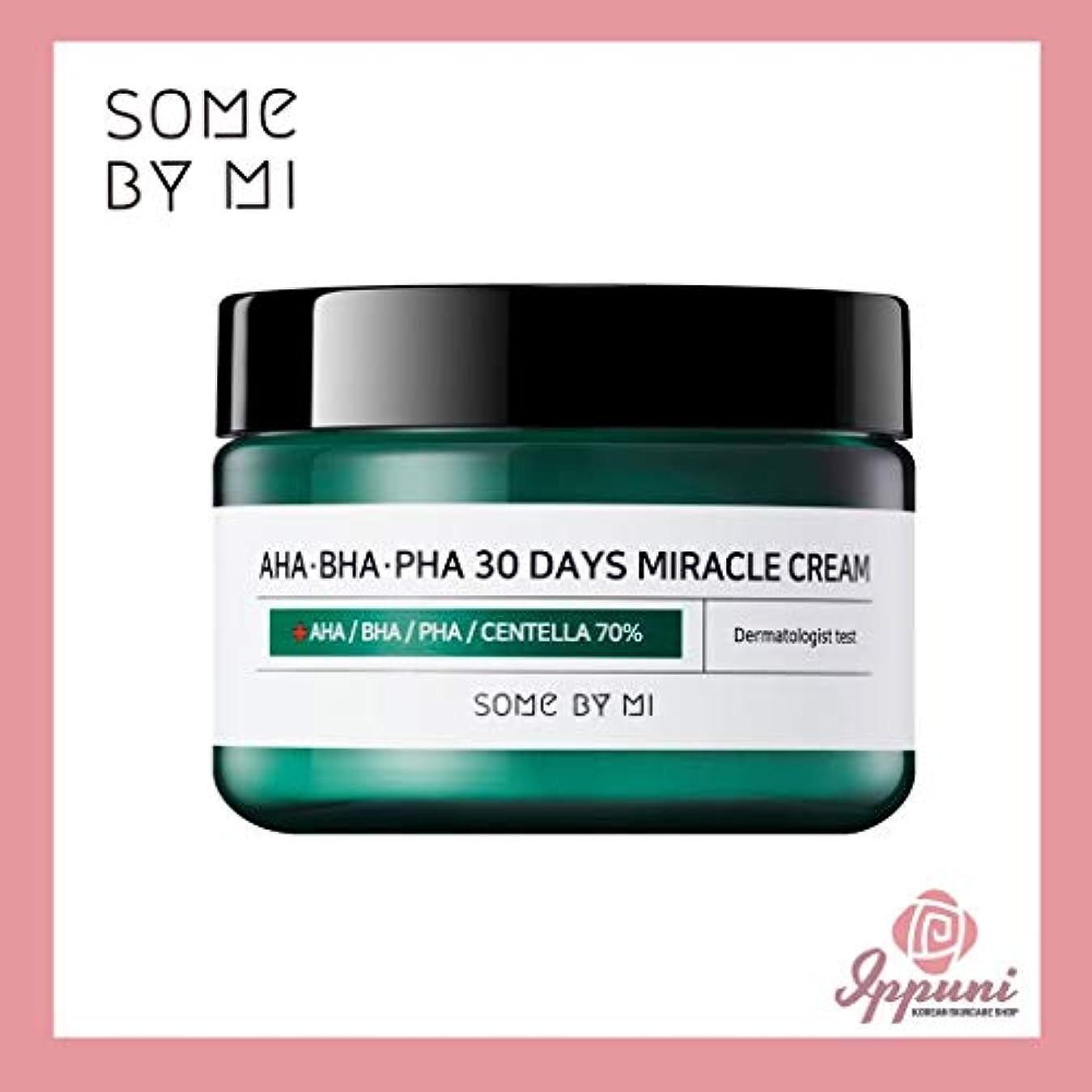 巻き取り牛肉赤面Somebymi AHA BHA PHA Miracle Cream 50ml (1.7oz) Skin Barrier & Recovery, Soothing with Tea Tree 10,000ppm for...
