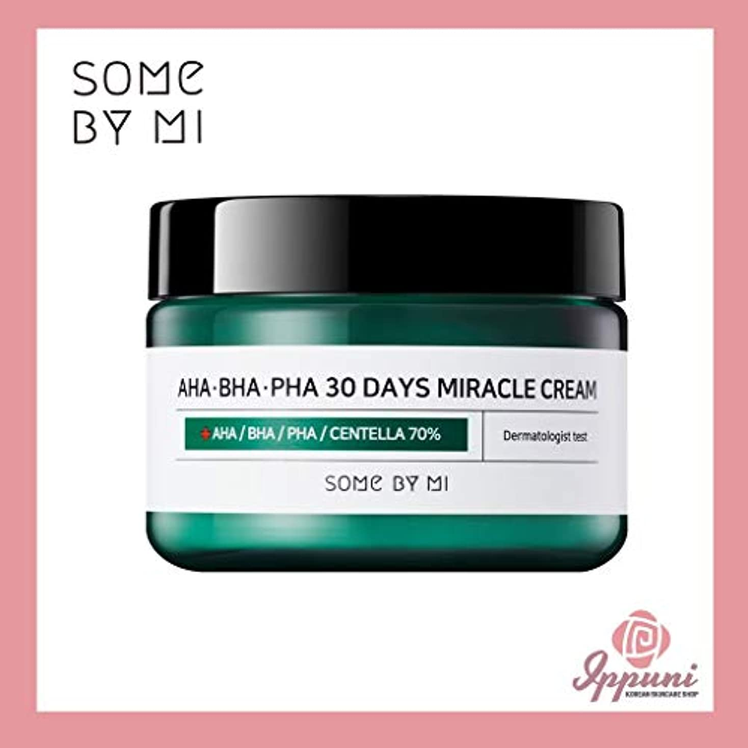 カードトン考慮Somebymi AHA BHA PHA Miracle Cream 50ml (1.7oz) Skin Barrier & Recovery, Soothing with Tea Tree 10,000ppm for...