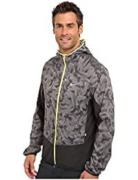 NikeメンズPrinted Trail Kiger Jacket Light Ash/Dark Ash/Volt / Reflective Silver XL