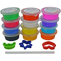 Blomiky 12 Colours Crystal mud Plasticine and Modelling Clay Play-set Crystal Mud12