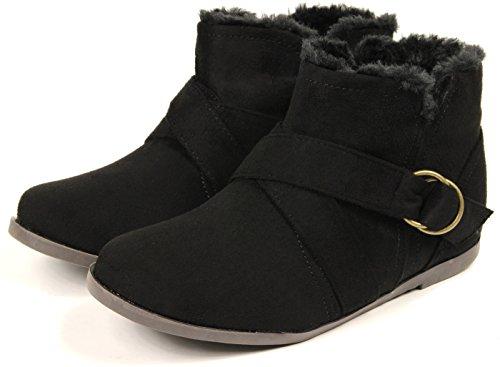 [해외](유 빅크) Yu-Becck ぺたんこ 짧은 부츠 여성 편안한 낮은 굽 스웨이드 벨트/(Ubic) Yu-Becck Petanko short boots Ladies easy to walk low heel suede belt