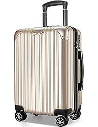 VARNIC スーツケース キャリーバッグ キャリーケース 機内持込 超軽量 大型 静音 ダブルキャスター 耐衝撃 360度回転 TSAローク搭載 ファスナー式 旅行 ビジネス 出張 人気色【永久保証】(7色3サイズ対応)