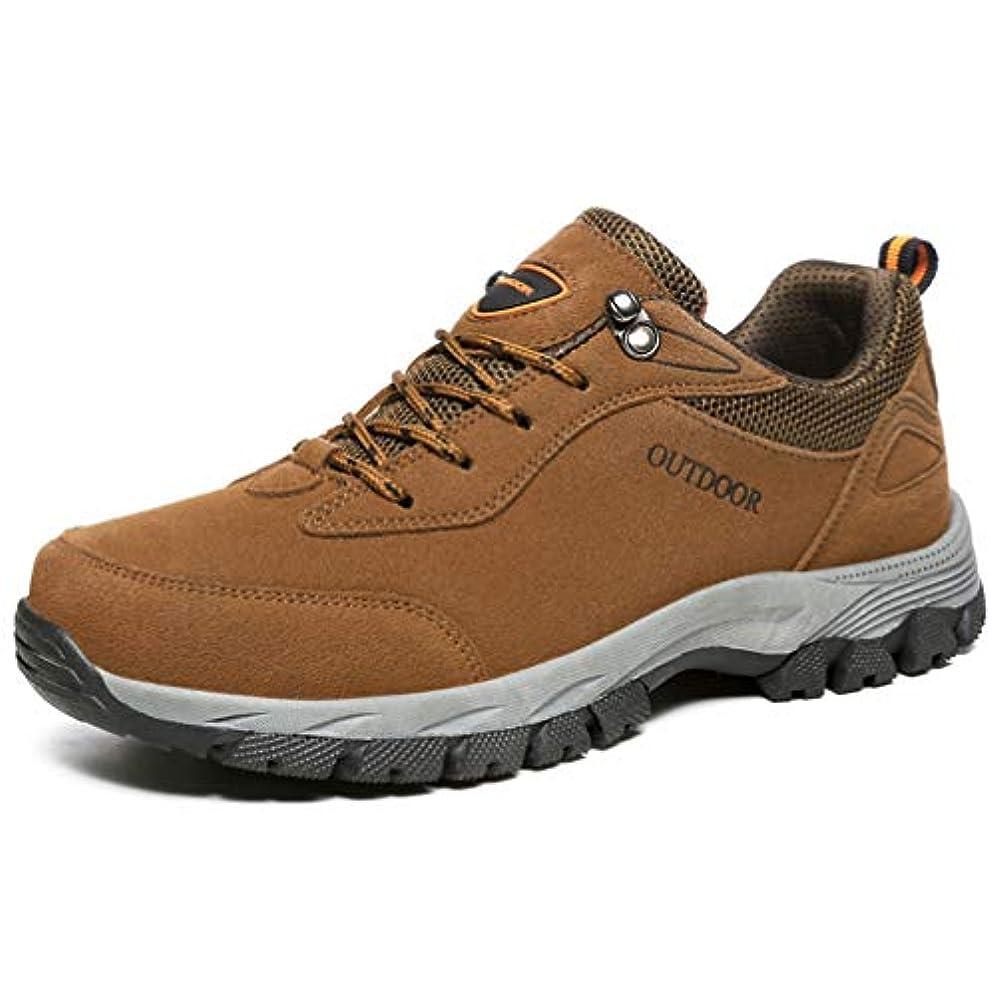 暴露流行ペストリー大きいサイズ トレッキングシューズ メンズ ハイキング おしゃれ 登山靴 通気 ウォーキング 軽い 滑り止め アウトドア 運動靴 カジュアル 茶 グレー スニーカー 29.5cm