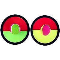 [ラウンド、赤]クラシックキッズトスとキャッチボールゲームセットキャッチボールおもちゃセット