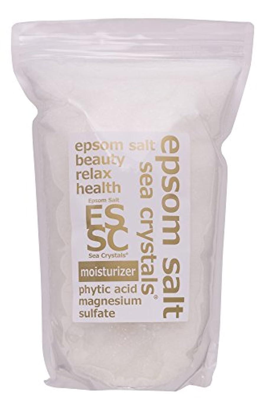 変換贈り物取り除くエプソムソルト モイスチャライザー 2.2kg 入浴剤 (浴用化粧品)フィチン酸配合 シークリスタルス 計量スプーン付