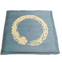 い草ざぶとん さわやかな使用感 古風な い草座布団『大関(おおぜき)』 55x55cm ブルー