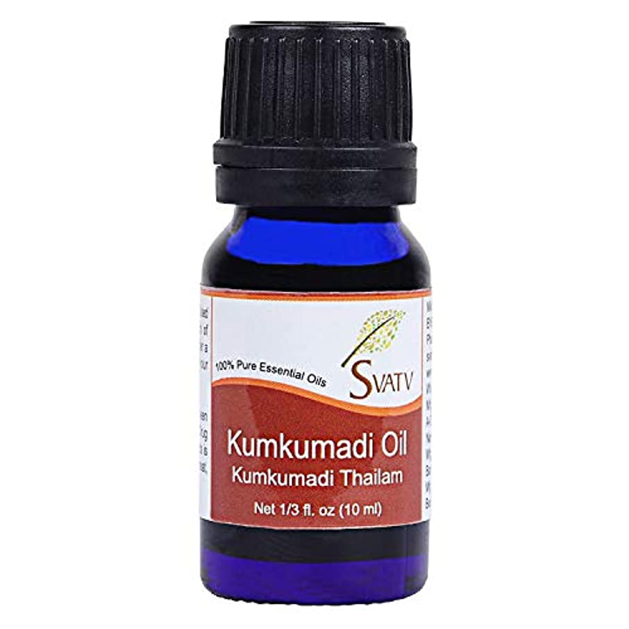 胚芽ビジュアルSVATV KUMKUMADI (kumkumadi thailam) Essential Oil 10 mL (1/3 oz)Therapeutic Grade Aromatherapy Essential Oil