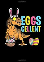 Notebook: Easter Eggs T-Rex Dino Rabbit Ears Funny Gift 120 Pages, A4 (About 8,5X11 Inches / Letter), Graph Paper