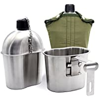 Hollazilla  カモフラ 水筒 ミリタリー キャンプ アウトドア 登山 キャンティーンカップ