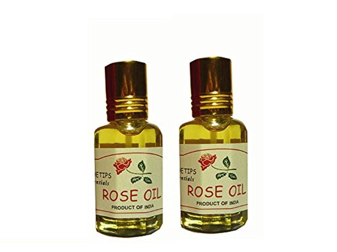 リラックスした不和雨のペコー ティップス ダマスクローズ オイル オット 100%精油(インド産 精油) 2本 PEKOE TIPS TEA ROSE ESSENTIAL OIL ROSA DAMASCENA(Damask rose) 12ml...