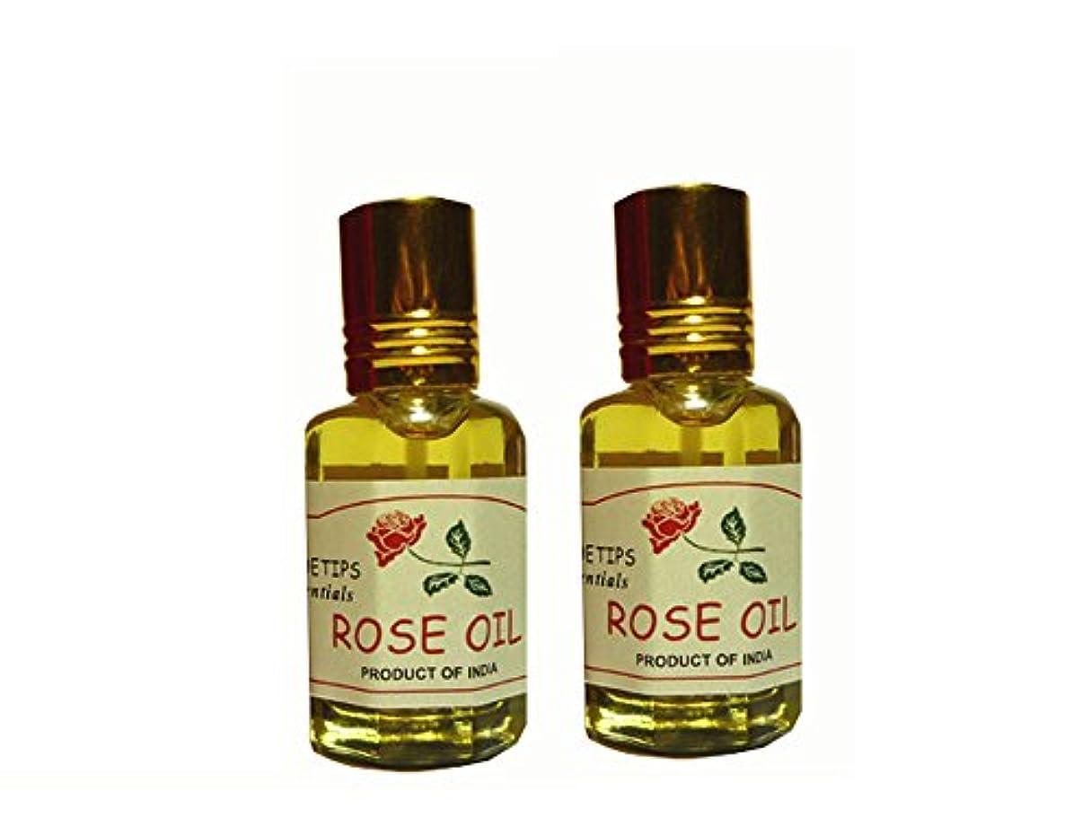 コンプリート輸血話すペコー ティップス ダマスクローズ オイル オット 100%精油(インド産 精油) 2本 PEKOE TIPS TEA ROSE ESSENTIAL OIL ROSA DAMASCENA(Damask rose) 12ml...