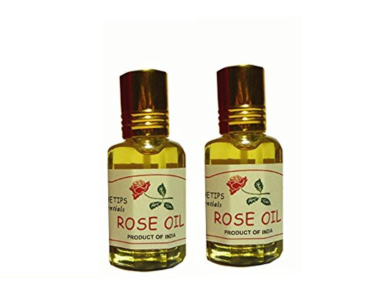 父方のから賛辞ペコー ティップス ダマスクローズ オイル オット 100%精油(インド産 精油) 2本 PEKOE TIPS TEA ROSE ESSENTIAL OIL ROSA DAMASCENA(Damask rose) 12ml...