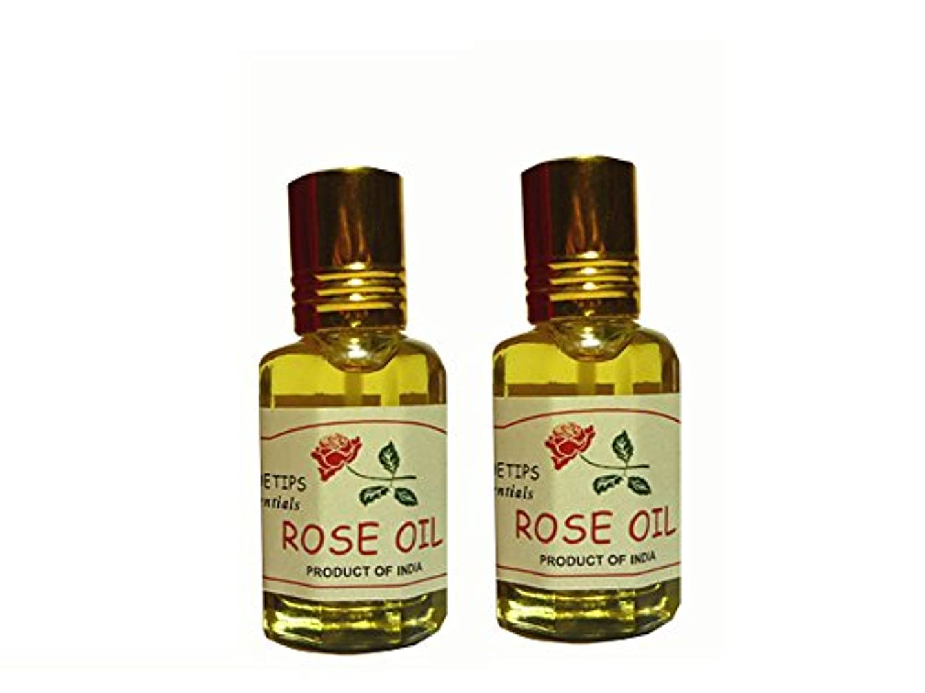 パンダガソリン圧縮ペコー ティップス ダマスクローズ オイル オット 100%精油(インド産 精油) 2本 PEKOE TIPS TEA ROSE ESSENTIAL OIL ROSA DAMASCENA(Damask rose) 12ml...
