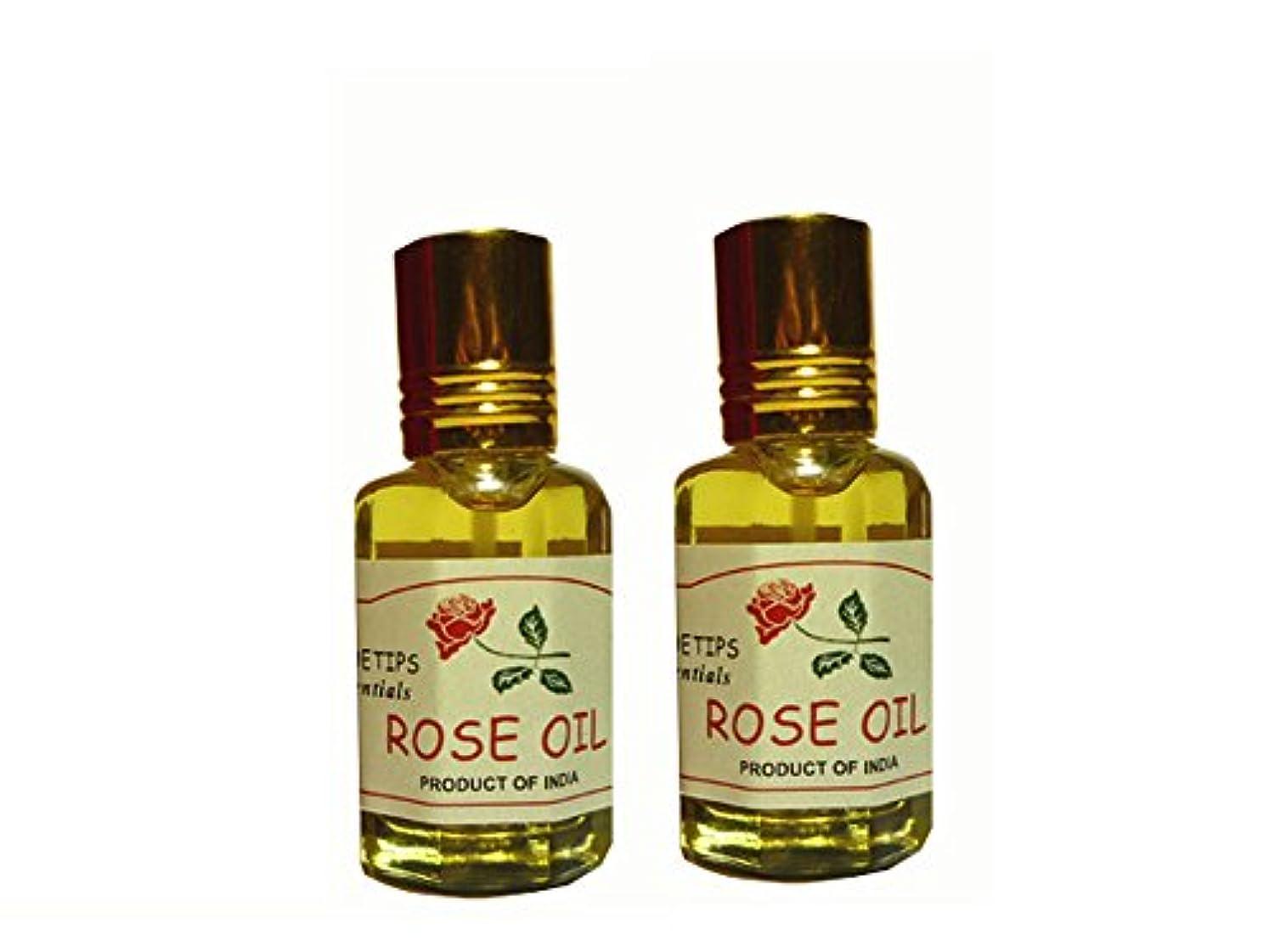豊富理論マカダムペコー ティップス ダマスクローズ オイル オット 100%精油(インド産 精油) 2本 PEKOE TIPS TEA ROSE ESSENTIAL OIL ROSA DAMASCENA(Damask rose) 12ml...