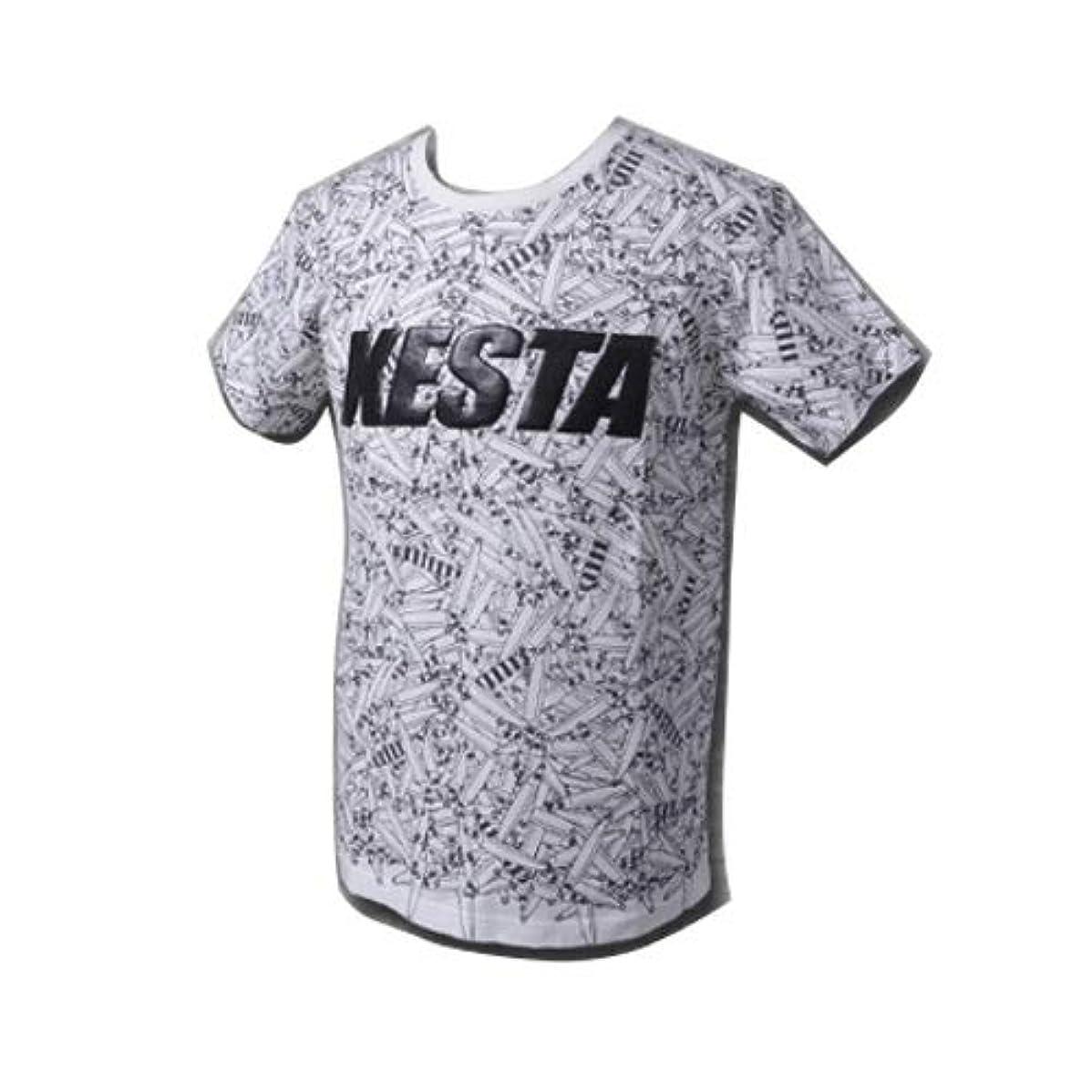 合体ドナウ川どきどきゼスタ(XESTA) T-シャツ(フルプリント) M ホワイト