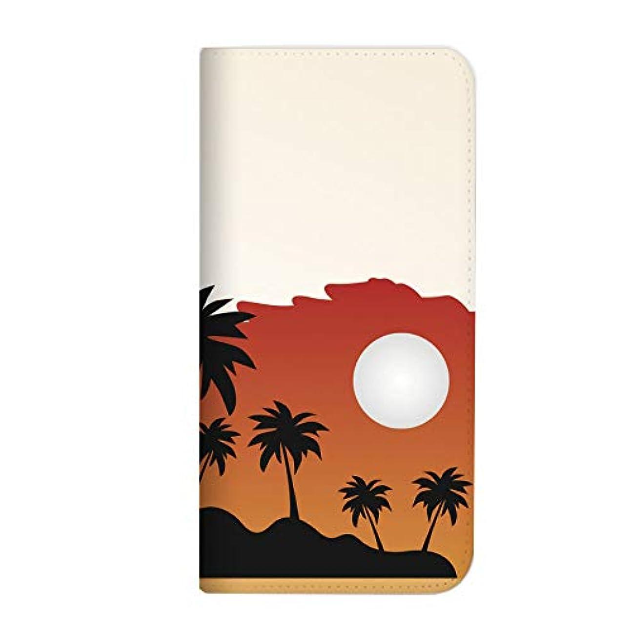 アンタゴニストワイププレビューmitas iPhone XR ケース 手帳型 ベルトなし 夏 ヤシ ハワイ オレンジ (399) NB-0246-OR/iPhone XR
