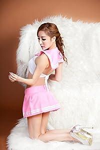 マイクロミニスカートでセクシーかわいいセーラー服です。Tバック付き。 ブラウスは伸縮性の有る生地でバストラインにピッタリフィット。着心地も良好です。 スカートはマジックテープ式で、着用した際にスリット状になりセクシー。  【サイズ】レディースフリーサイズ 【カラー】紺 ネイビー/ピンク  【用途】コスプレ衣装コスチューム/女子高生コスプレ/制服コスプレ/jcコスプレ/jkコスプレ/セクシーコスプレ/ナイトコスチューム/アダルトコスプレ/アダルトコスチューム衣装/レディースコスプレ/女装 【デザイ...