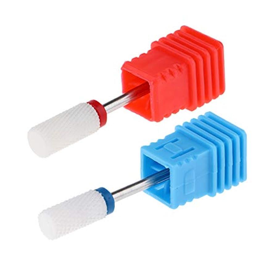 ライナーブラジャー住所T TOOYFUL ネイルビットセット ネイルドリルビット ネイルサロン ネイルアーティスト 爪磨き 研削ヘッド 2本