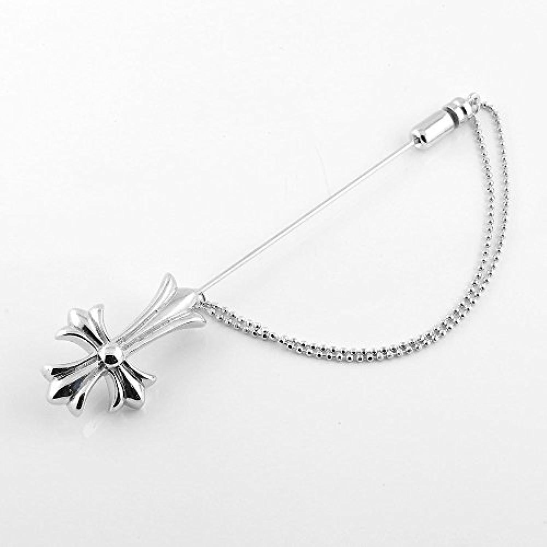 [アトラス] Atrus クロス 十字架 メンズ ラベルピン ピンブローチ ブローチ シルバー925 フォーマル