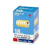 (まとめ) ニチバン セロテープ エルパック エス 小巻 18mm×20m LP-18S 1パック(5巻) 〔×5セット〕