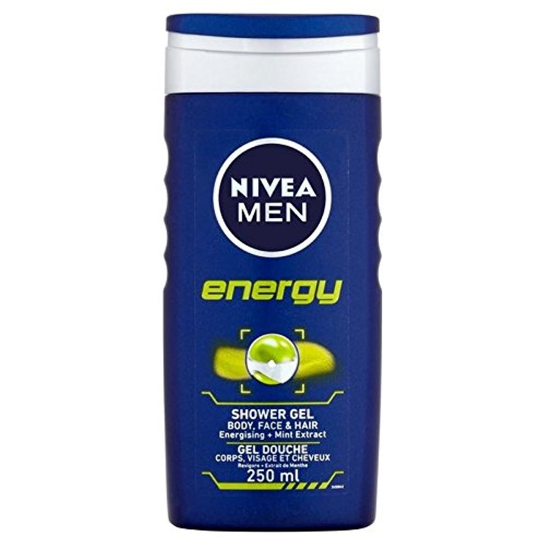 心から肌寒い刺繍Nivea Men Energy 2 in 1 Shower 250ml - 1つのシャワー250ミリリットル中ニベアの男性のエネルギー2 [並行輸入品]
