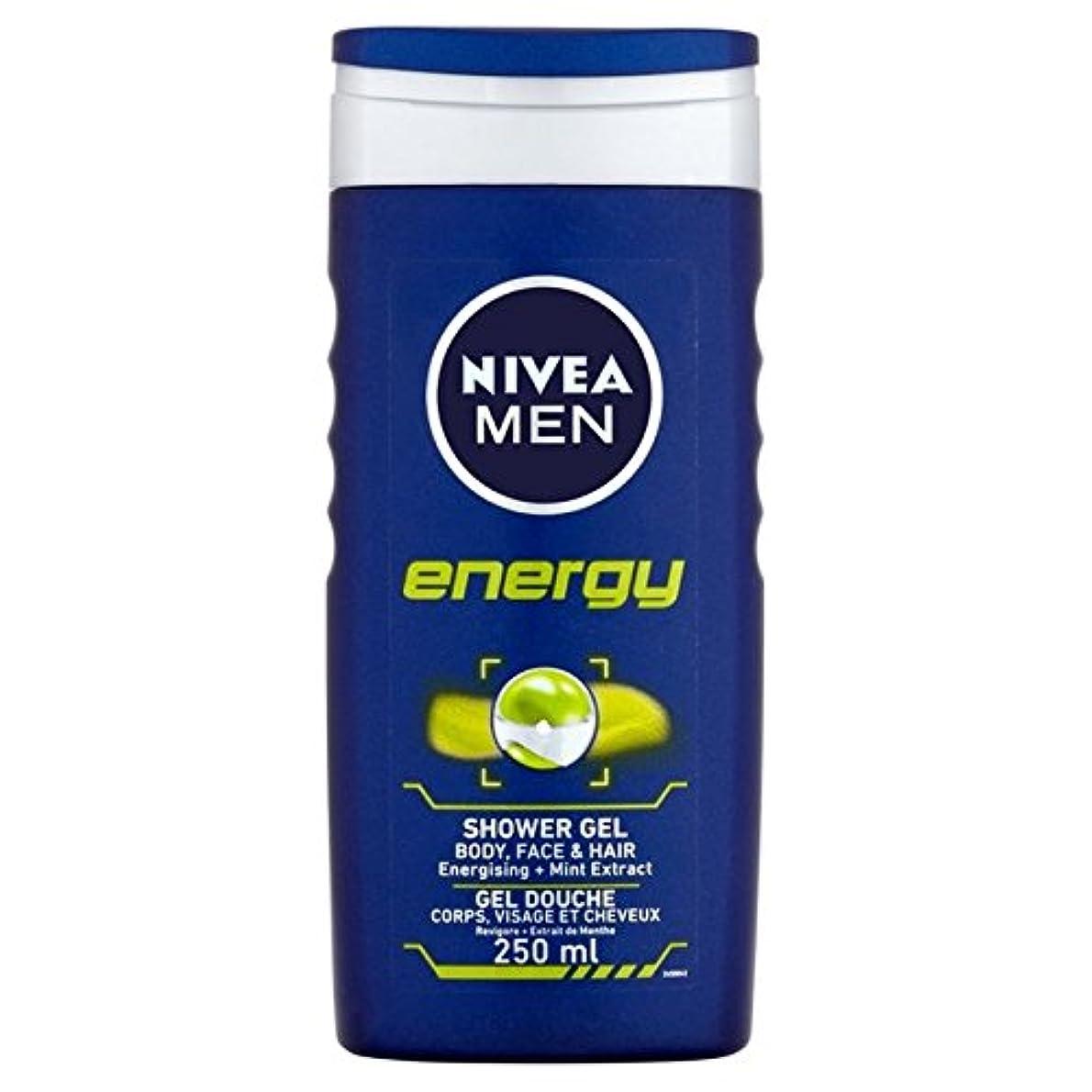 せがむトリクル飛躍Nivea Men Energy 2 in 1 Shower 250ml - 1つのシャワー250ミリリットル中ニベアの男性のエネルギー2 [並行輸入品]