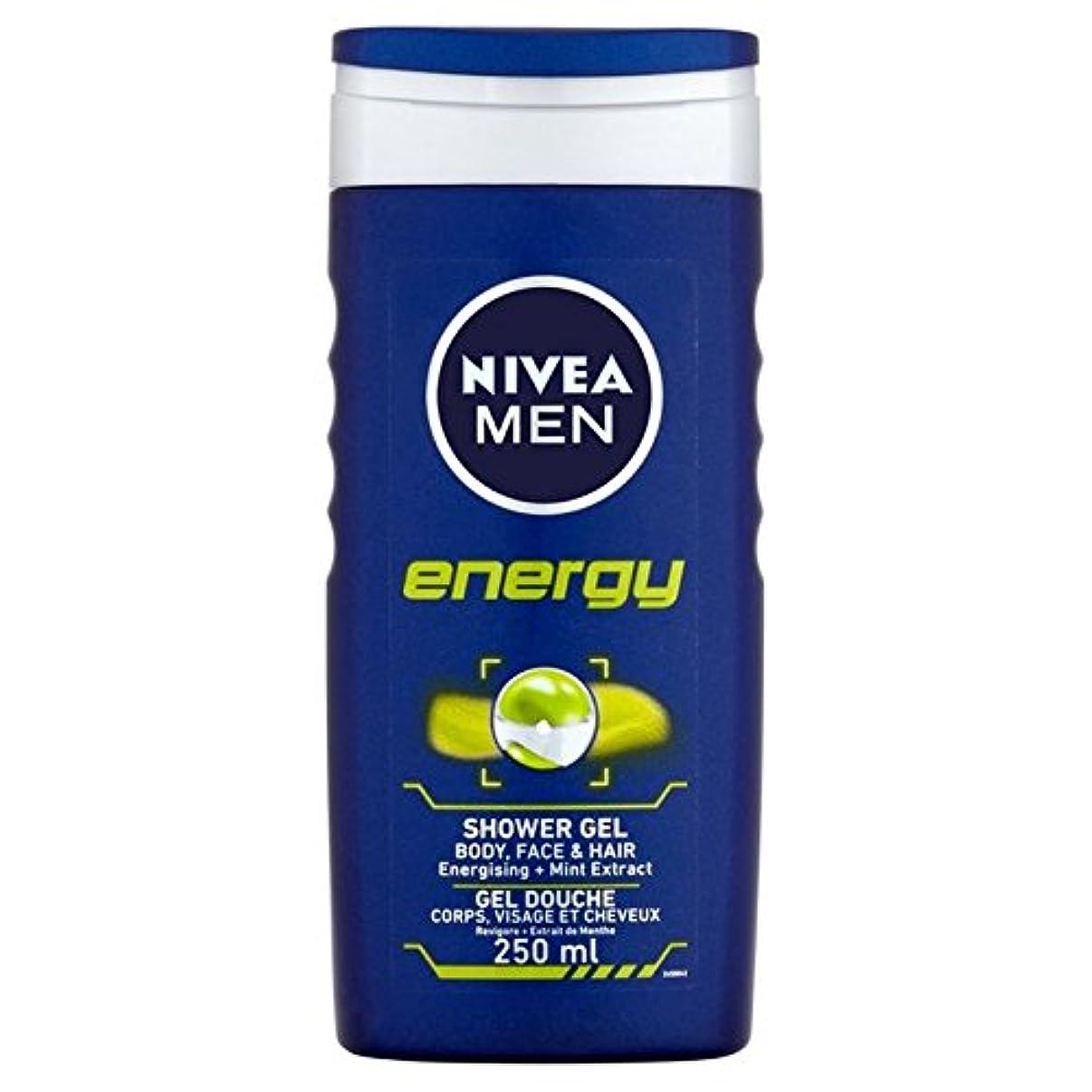 人間強制肥満Nivea Men Energy 2 in 1 Shower 250ml - 1つのシャワー250ミリリットル中ニベアの男性のエネルギー2 [並行輸入品]