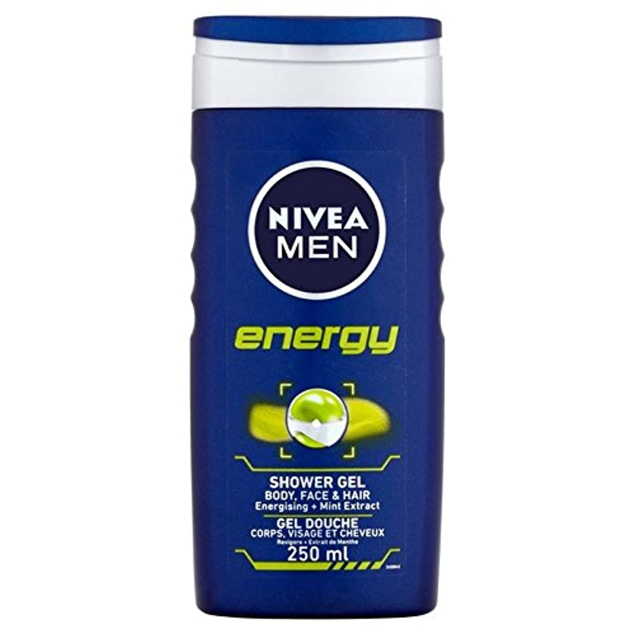 クーポン羊飼い丘Nivea Men Energy 2 in 1 Shower 250ml - 1つのシャワー250ミリリットル中ニベアの男性のエネルギー2 [並行輸入品]