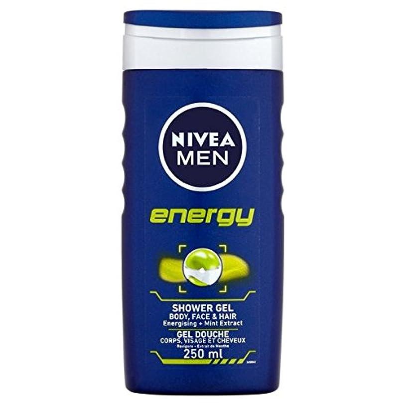 休暇発動機コントラストNivea Men Energy 2 in 1 Shower 250ml - 1つのシャワー250ミリリットル中ニベアの男性のエネルギー2 [並行輸入品]