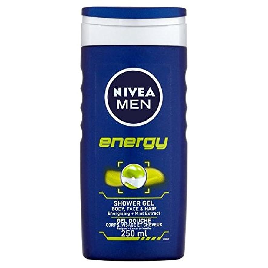 ええしわ被害者Nivea Men Energy 2 in 1 Shower 250ml - 1つのシャワー250ミリリットル中ニベアの男性のエネルギー2 [並行輸入品]