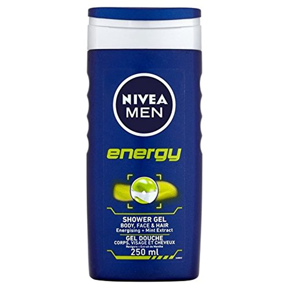 心理的にデマンドコンソールNivea Men Energy 2 in 1 Shower 250ml - 1つのシャワー250ミリリットル中ニベアの男性のエネルギー2 [並行輸入品]