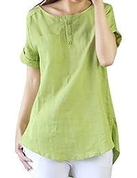 上着 レディース 夏 Kohore tシャツ レディース ロング トップス 麻 綿 ゆるtシャツ ゆったり 体型カバー おしゃれ セクシー 綿 無地 白 s-3l 大きいサイズ 春 秋 ブラウス Tシャツ women シャツチュニック
