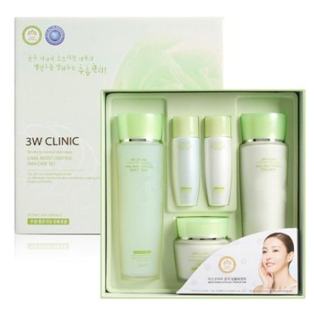 鎮痛剤テーマエンコミウム3Wクリニック[韓国コスメ3w Clinic]Snail Moist Control Skin Care Set カタツムリモイストコントロールスキンケア3セット樹液,乳液,クリーム [並行輸入品]