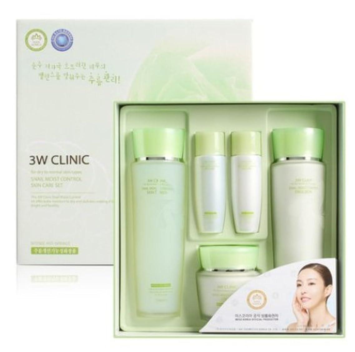 誇張するスペル原子3Wクリニック[韓国コスメ3w Clinic]Snail Moist Control Skin Care Set カタツムリモイストコントロールスキンケア3セット樹液,乳液,クリーム [並行輸入品]