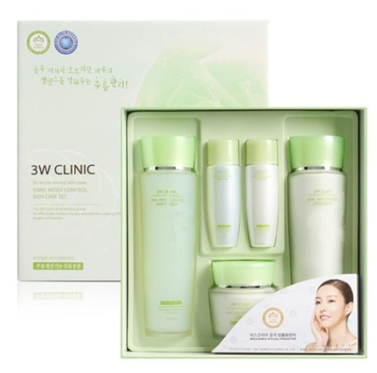 リスト瞑想する特権的3Wクリニック[韓国コスメ3w Clinic]Snail Moist Control Skin Care Set カタツムリモイストコントロールスキンケア3セット樹液,乳液,クリーム [並行輸入品]