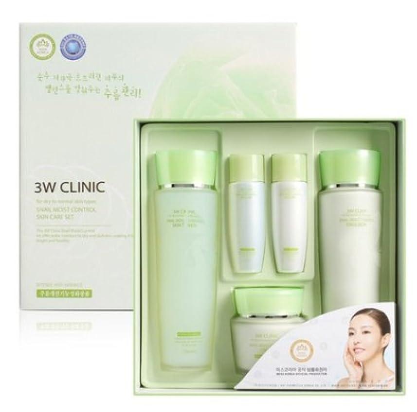 3Wクリニック[韓国コスメ3w Clinic]Snail Moist Control Skin Care Set カタツムリモイストコントロールスキンケア3セット樹液,乳液,クリーム [並行輸入品]