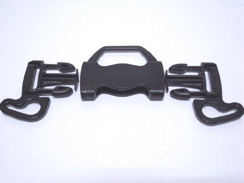 Due emme F5W プラスチック 5wayバックル 黒 20mm/25mm/38mm巾用 ベビーカーのベルトの長さ調節などに