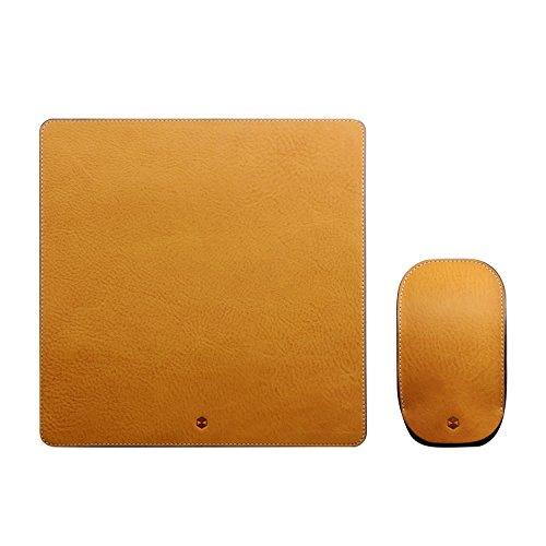 Design Magic Mouse ケース カバー&マウスパッド セット 本革 収納ポーチ Minerva Box Leather タン マジックマウス専用 レザー 日本正規代理店品