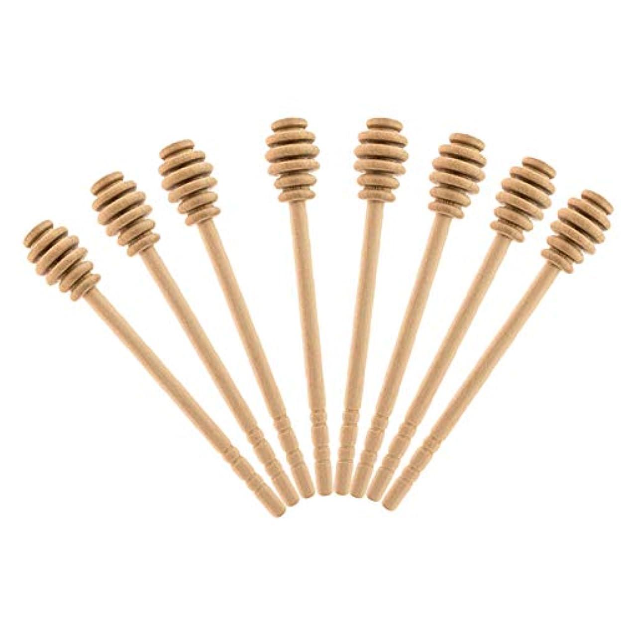 RETYLY クラシックなデザインの木製ハニーディッパースティック、100%天然木接着剤なし