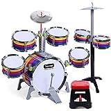 LINGLING-ドラム 子供の音楽ドラム教育用の玩具打楽器初期の教育用ギフト2つのドラムが選択できる (サイズ さいず : L l)