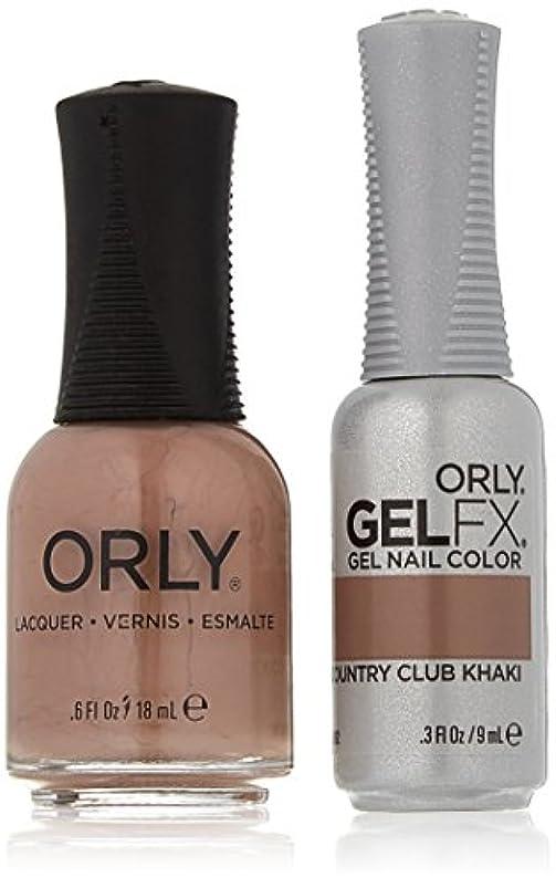 描写甘やかす新聞Orly Nail Lacquer + Gel FX - Perfect Pair Matching DUO - Country Club Khaki