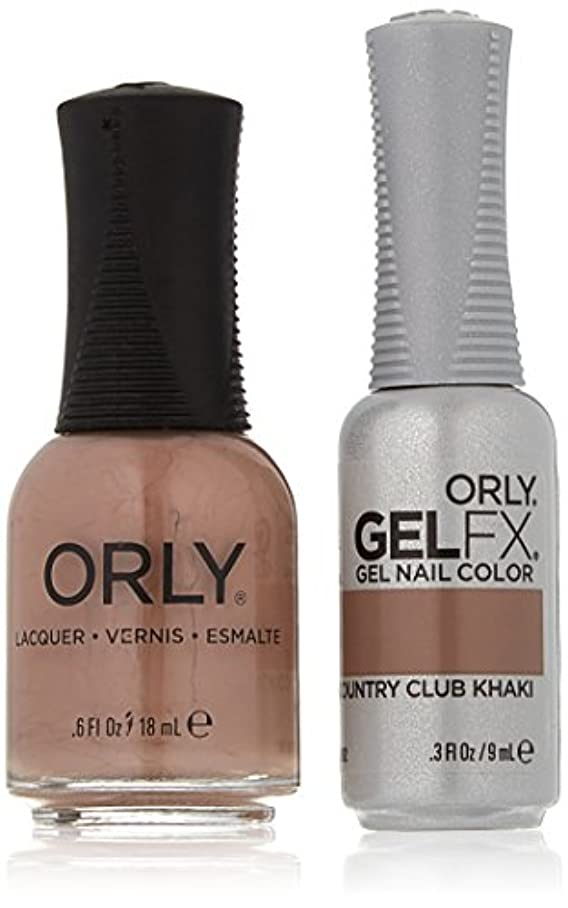リスキーなつぶすネコOrly Nail Lacquer + Gel FX - Perfect Pair Matching DUO - Country Club Khaki