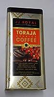 JJ ROYAL COFFEE 200g 焙煎済み粉 真空パック缶入り 【TORAJA ARABICA】賞味期限が2019年7月2日の為、大特価!!