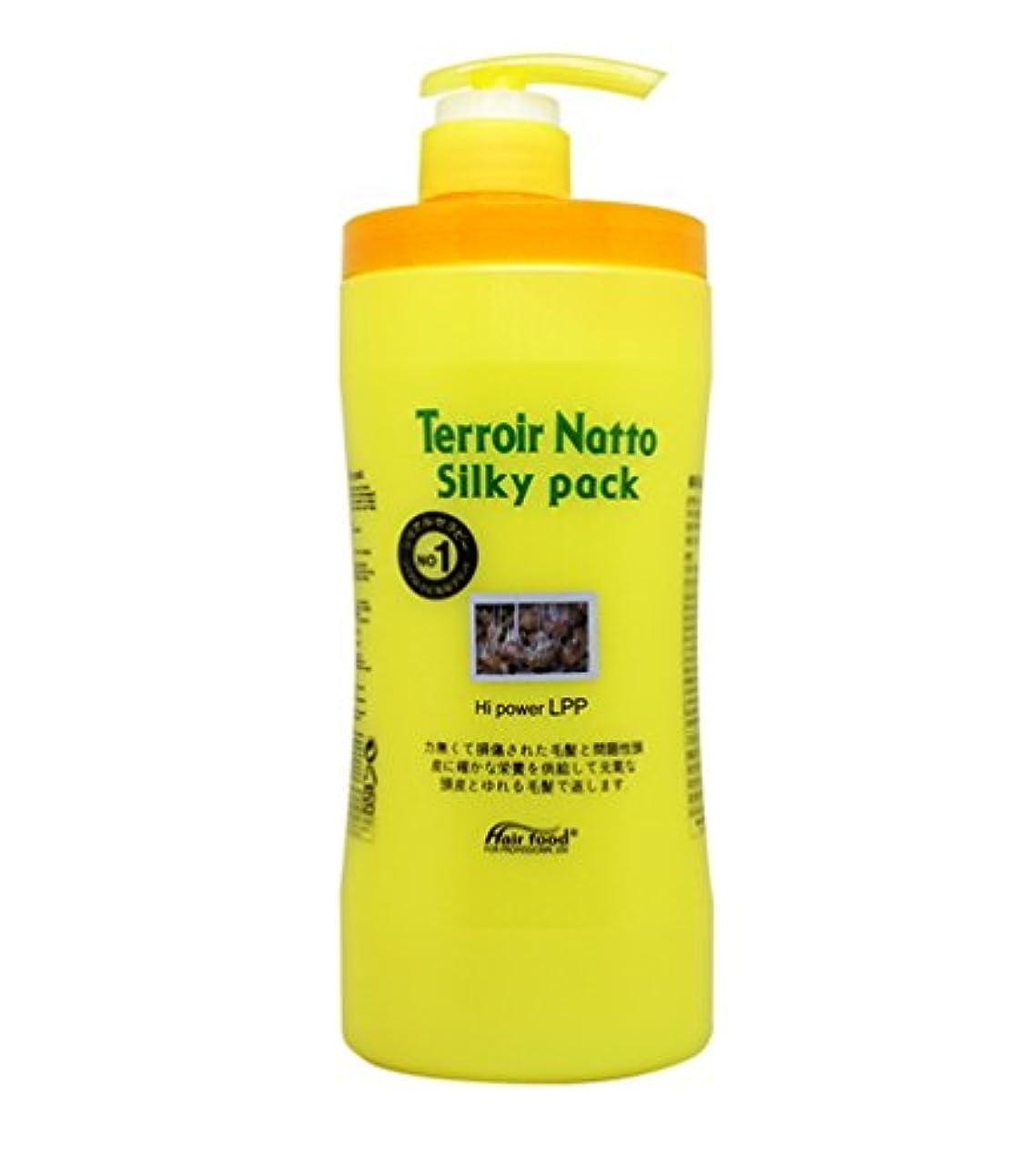テザーネイティブ天皇[MEDICIJAPAN/メディシュジャパン] Hair Food Terroir Natto Silky Pack 1000ml/ ヘアフードテロワール納豆シルキーパック(海外直送品)