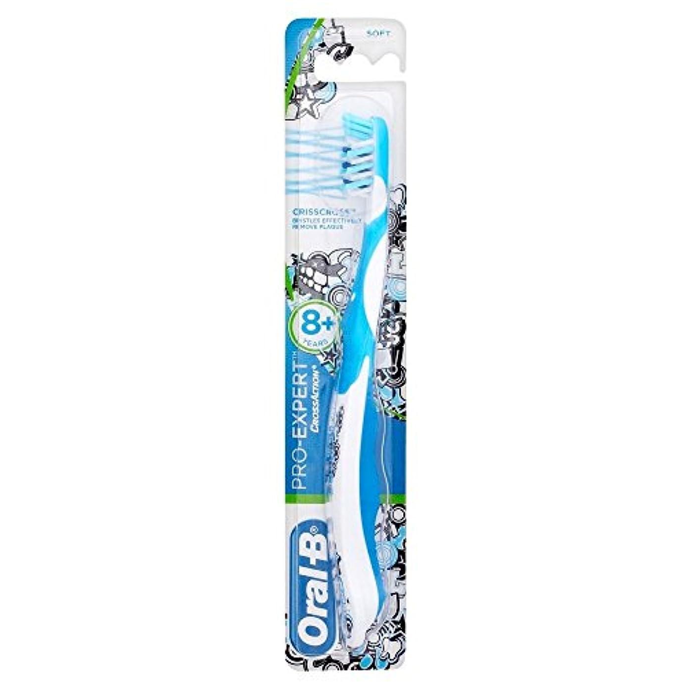 スカルクイソギンチャク配送Oral-B Toothbrush Pro-Expert Soft Bristles 8yr + オーラルb歯ブラシプロ専門ソフト剛毛??8Yr + [並行輸入品]